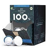 My Coffee Cup – MEGA BOX LUNGO CAFFÈ CREMA – BIO-KAFFEE I 100 Kaffeekapseln für Nespresso®³-Kapselmaschinen I 100% industriell kompostierbare Kaffeekapseln – 0% Alu I Nachhaltige Kaffeekapseln