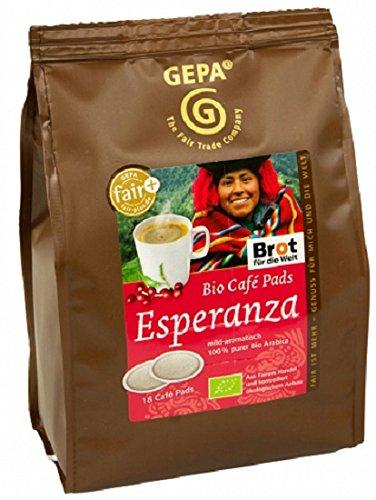 Gepa Bio Kaffee Pads Esperanza, 1 Karton...