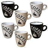 6 Stück Kaffeebecher Coffee Tassen 150 ml aus Keramik Kaffee Becher Tassen 6er