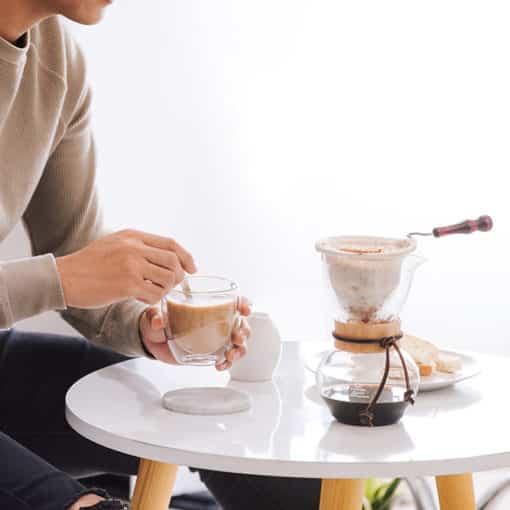 Drip Pot Woodneck - Kaffee aus dem Baumwollfilter